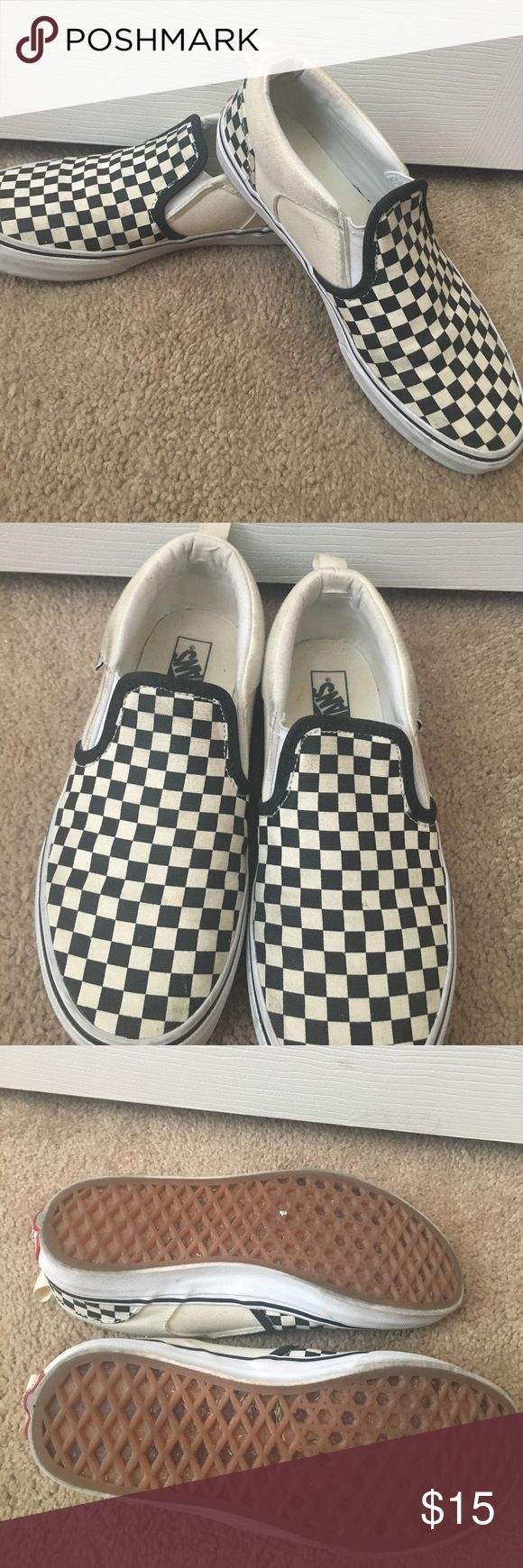 Checkered vans🌸MOTHER'S DAY SALE🌸 Used but in great condition just some scuff marks as seen in pictures Vans Shoes Sneakers