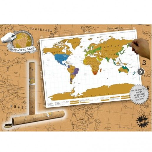 Weltkarte zum Rubbeln SCRATCH MAP TRAVEL EDITION