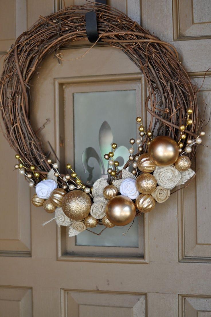 17 mejores ideas sobre coronas para puerta en pinterest - Como hacer coronas de navidad ...