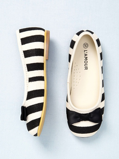 little girl striped ballet flat