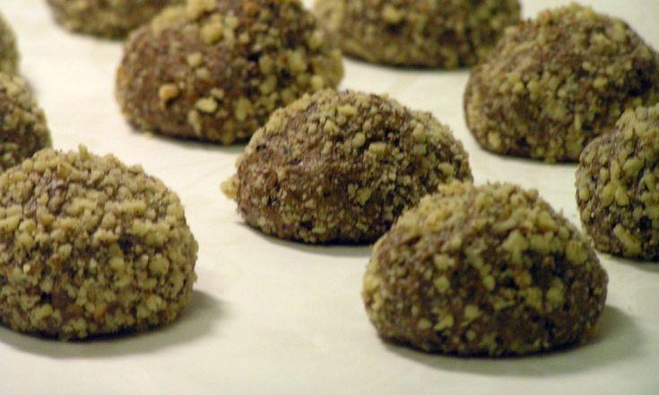 Orechové čoko-višnové bezlepkové koláčiky