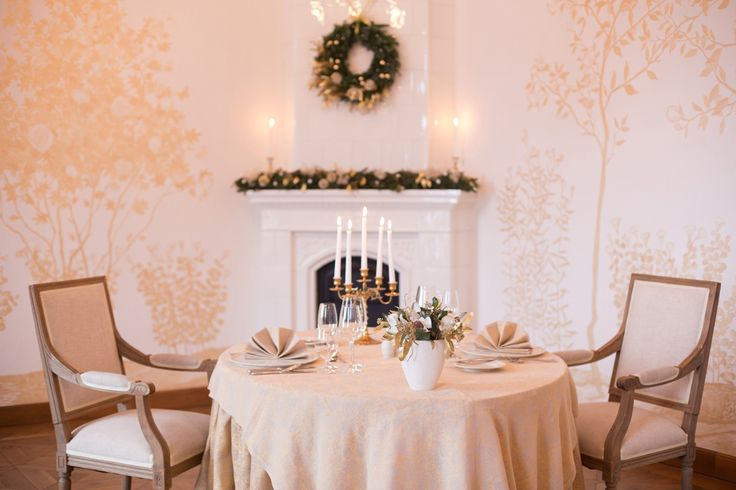 Chrismas decoration at Chateau Mcely in Gold Room