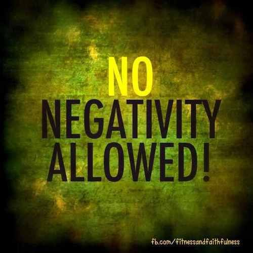 Negative thoughts will rust your mind