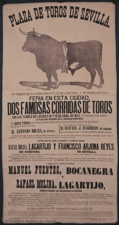 Dos famosas corridas de toros. Maestranza de Sevilla — Dibujos, grabados y fotografías — 1874