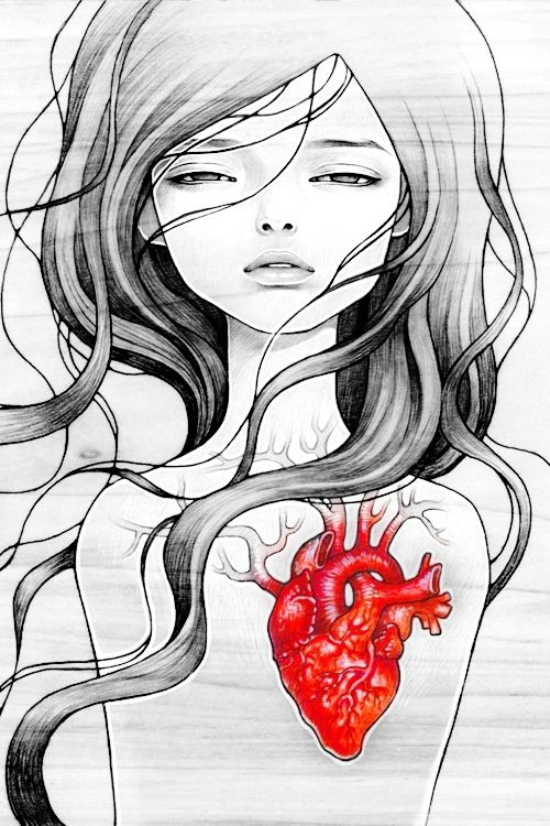 Dishonest heart by Audrey kawasaki. I'm getting her tattooed on my forearm someday