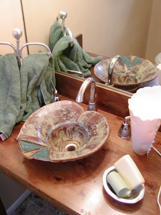 This Vessel Sink Inspired The One I Also Created For Leah.