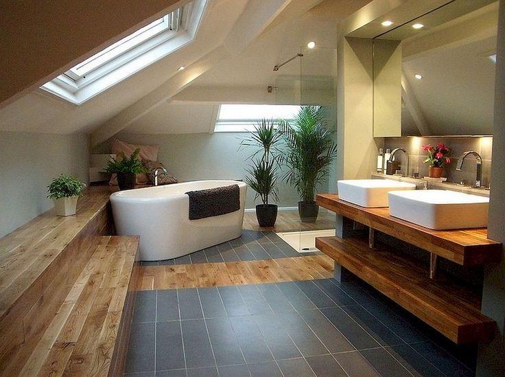 60 + bewundernswerte Dachboden Badezimmer Makeover Design-Ideen #atticbathroom #…  #badezimmerideen