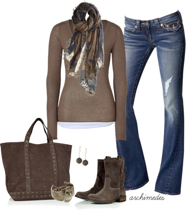 """American Vintage"" by archimedes16 ❤ liked on Polyvore: Fall Clothing, Ankle Booty, Style, Casual Fall Outfits, Fashionista Trends, American Vintage, Brown Boots, Fashion Fall, Fall Fashion Trends"