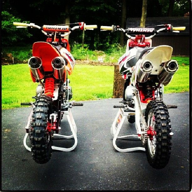 Pit bikes, His and Hers!