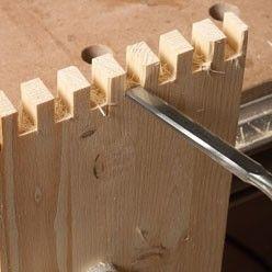 Assemblage en bois : réaliser une queue droite - http://www.systemed.fr/
