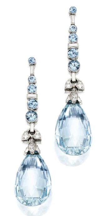 Aquamarine and Diamonds for Miss Frivolous Fabulous