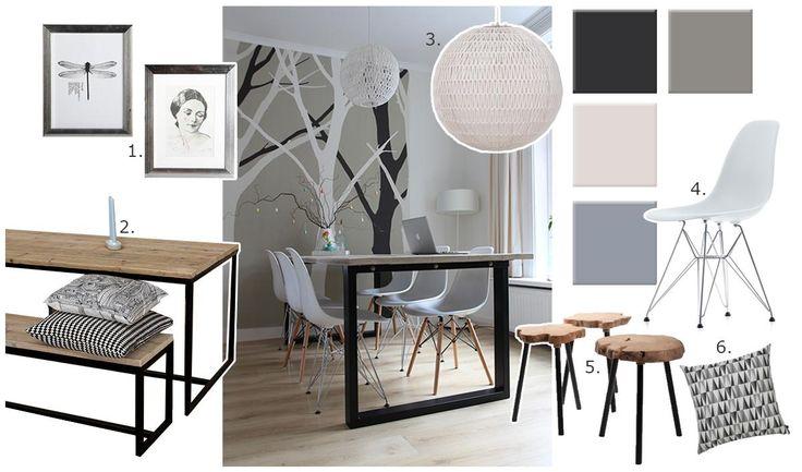 13 beste afbeeldingen over eetkamer op pinterest teakhout zoeken en eetkamers - Behang voor de woonkamer en eetkamer ...