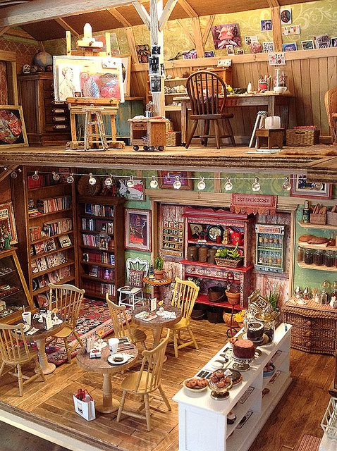"Amy Gross (For detailed pics, please see my "" DollHouse Shops, Restaurants, Carts  Stands Scenes"" board)"