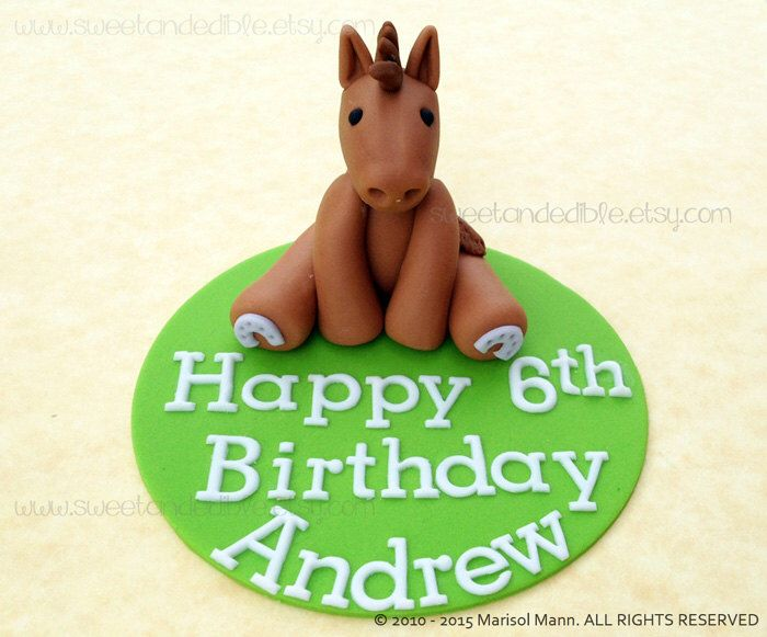 EDIBLE HORSE CAKE Topper by SWEETandEDIBLE on Etsy https://www.etsy.com/listing/208116577/edible-horse-cake-topper
