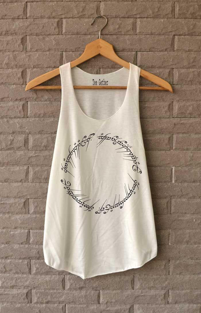 Das Ring-Signatur-Shirt der Herr der Ring-Symbol von Teegethershop