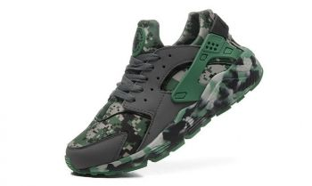 newest dd70b 9ab62 High Quality Nike Air Huarache Run Camo Emerald Green Dark Gray