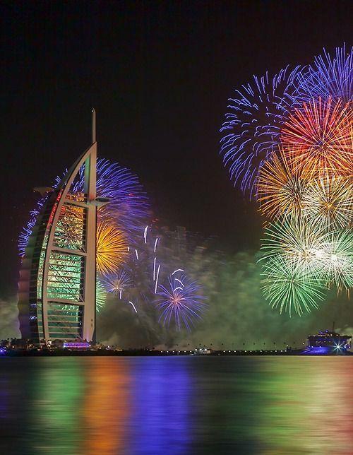 Dubai, UAE on New Years' Eve  Last minute summer holidays www.hkoffers.com