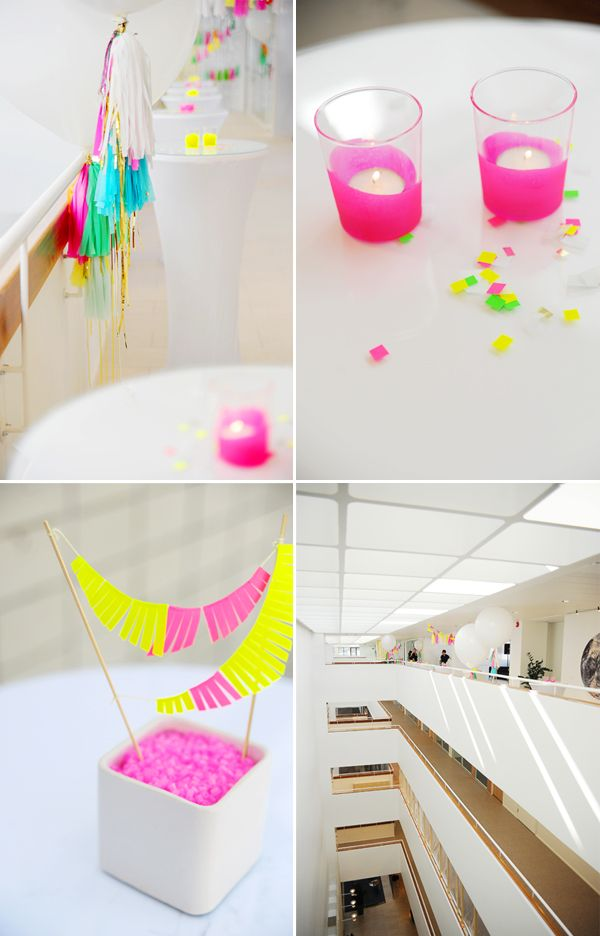 Hey Look: NEON & WHITE - A SERIOUSLY FUN CORPORATE PARTY #corporateparty #corporatepartyideas #party