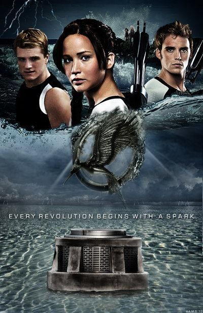 I have to say, I'm glad that the Catching Fire trio isn't Katniss, Peeta, and Gale; instead, it's Katniss, Peeta, and Finnick. Just makes me happier. (=