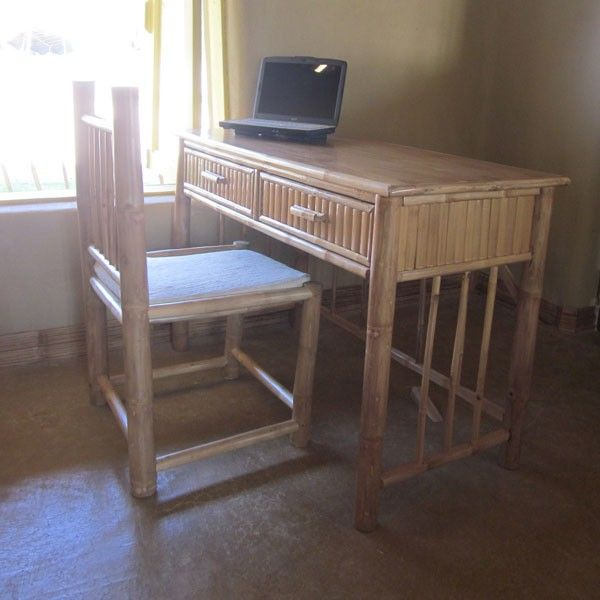 Furniture Bamboo Desk Chair Set