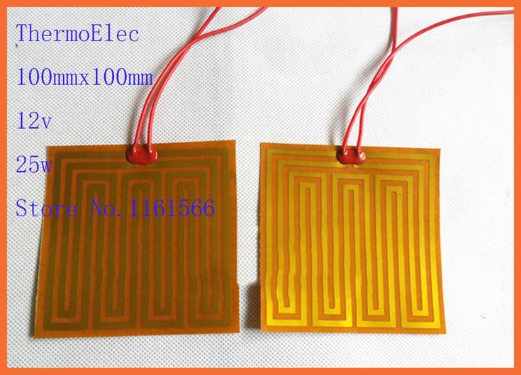 100mmx100mm 12v 25w element heating PI film polyimide heater heat rubber electric 3D priner Automobile oil pan heating flexible