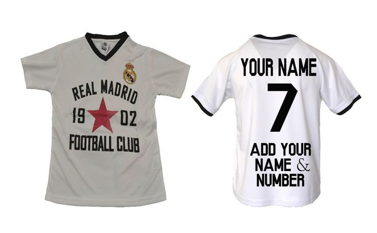 Real Madrid Soccer Jersey Youth Kids Training -Add Your Name & Number Ronaldo 7 #RHINOX #RealMadrid