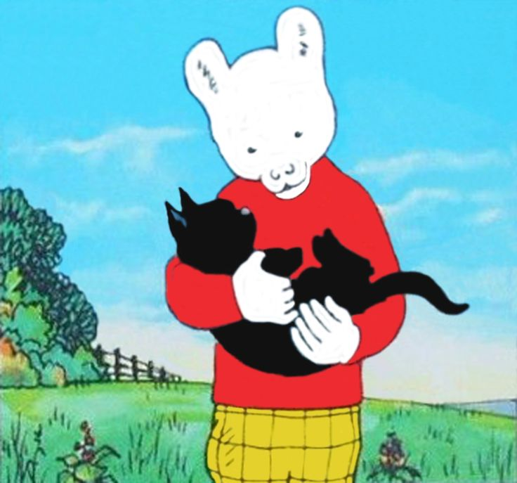 Rupert and the black cat