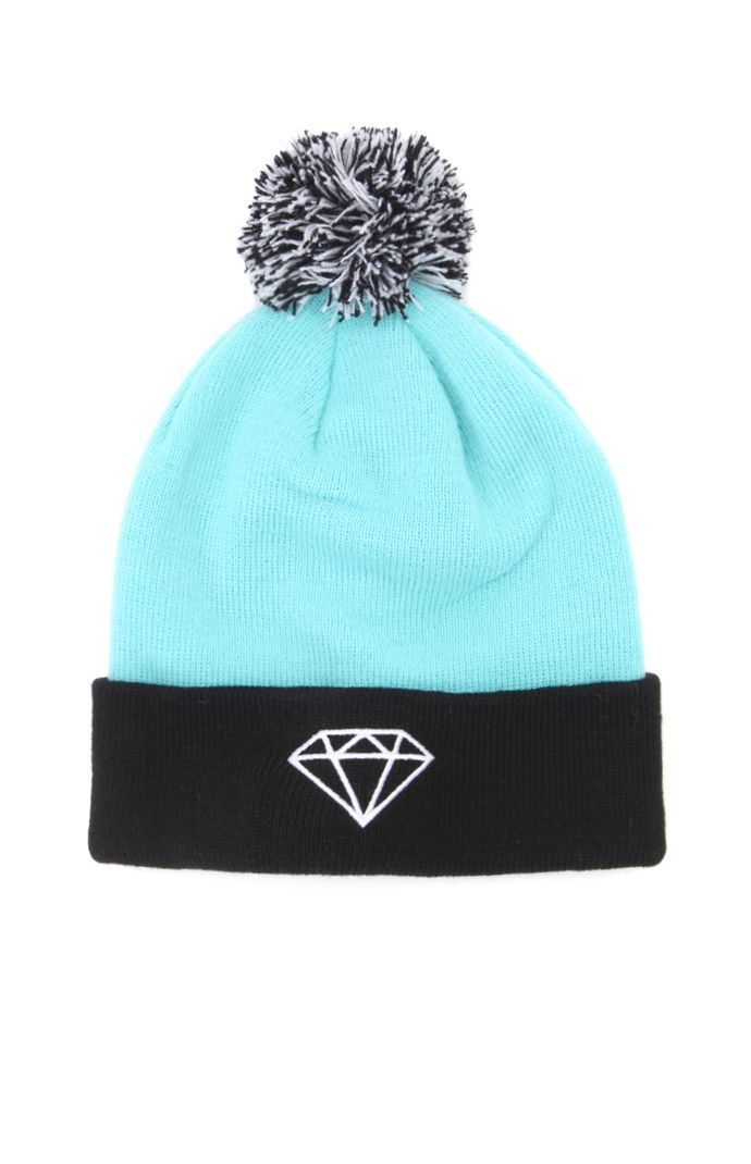 Diamond Supply Co Stripe Pom Beanie