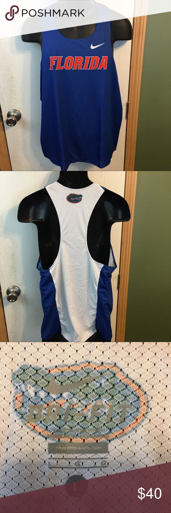 NWT Men's Florida Gators Nike Track Shirt Size L This is a Mens NWT University of Florida Gators Nike Dri-Fit Digital Race Day Singlet Size Large. This Track and Field Shirt  is new and has never been worn and is in excellent condition. Please take a look at all photos for condition and if you have any questions feel free to ask. Nike Shirts Tank Tops