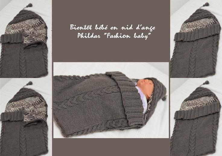 Phildartendresse nid d 39 ange phildar tricot tricot et couture pinterest tricot - Patron nid d ange bebe gratuit ...