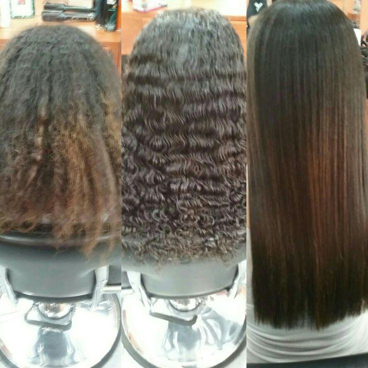 Keratin hair treatment, la keratina brazileña