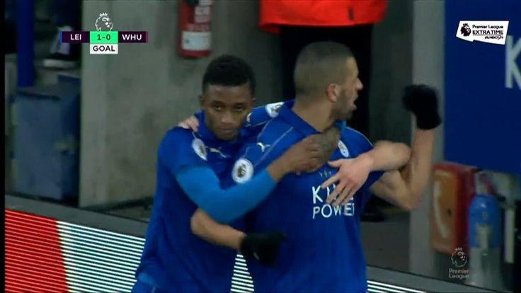 Prem: Slimani goal -- Leicester (20')