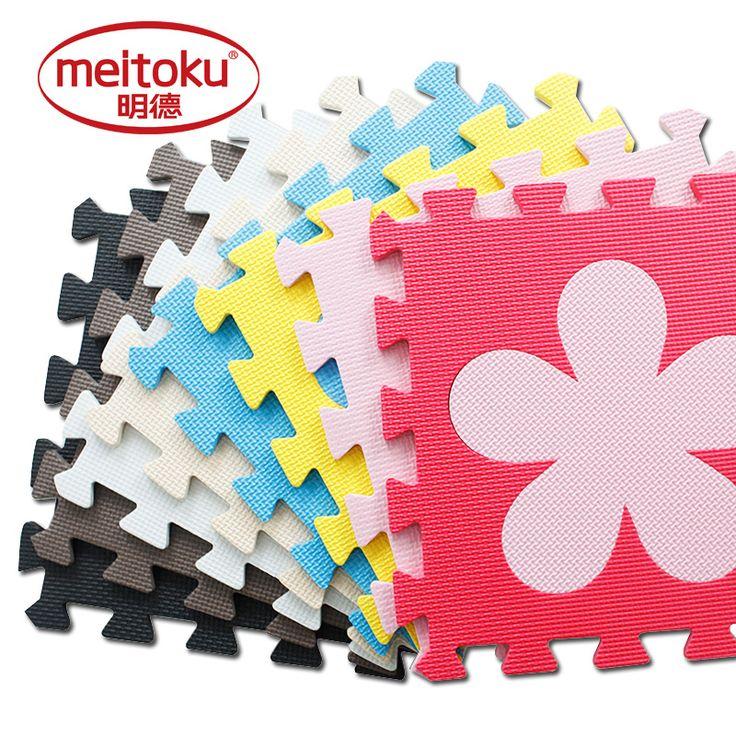 Meitoku baby EVA foam puzzle play mat/10pcs/lot Interlocking Exercise floor mat,per 30cmX30cm 1cmThick