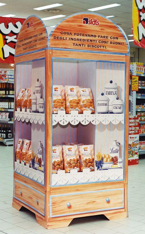 Espositore Biscotti Supermercati Sidis