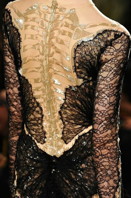 Marchesa bone dress