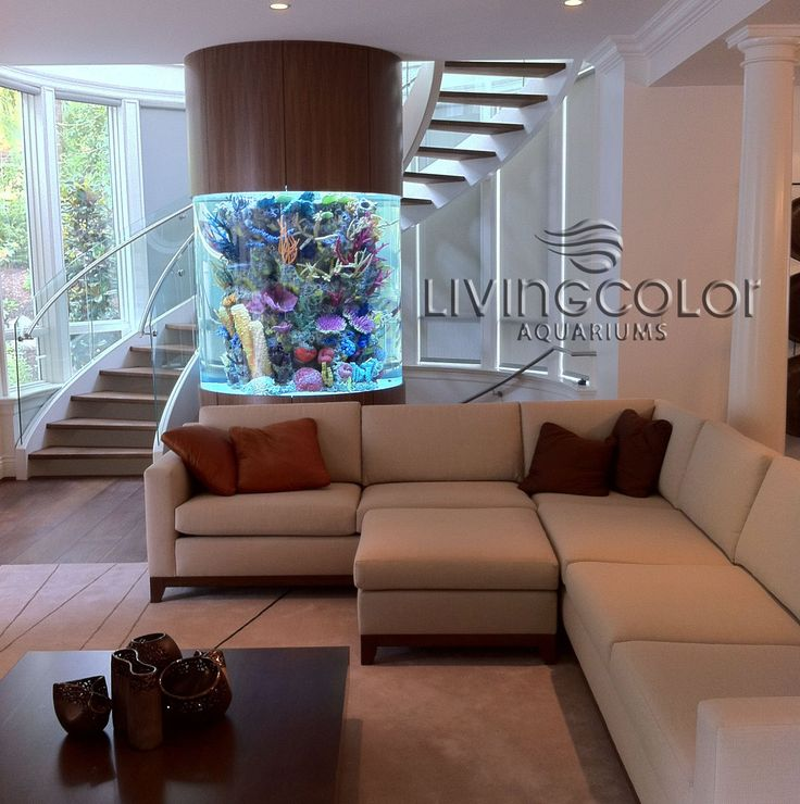 Aquariums Saltwater Fish Tanks 700 gal. salt water/coral Acrylic Aquarium tower/// / I would never leave the couch. Also, I could have an OCTOPUS!!!