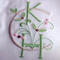 Monogram Inc.  Pink and Green