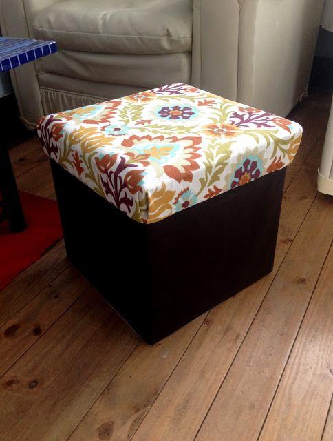 Foldable storage ottoman. pameladuran.cl: Cómo tapizar un piso plegable.