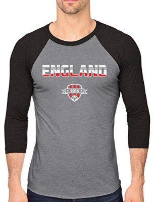 England Soccer / Football Team Euro UEFA 2016 Fans  Baseball Jersey Shirt