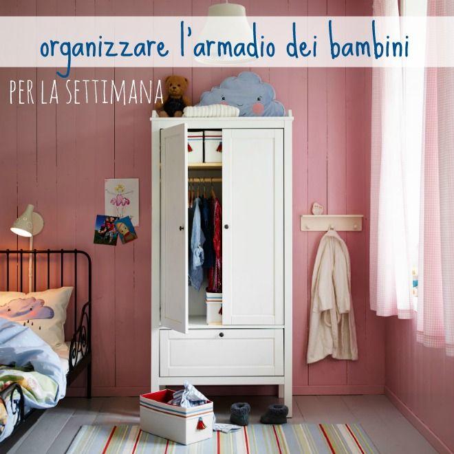 Come preparare i vestiti per la scuola dei bambini: organizzazione settimanale dell'armadio dei bambini.