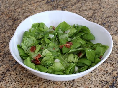 This old fashioned wilted lettuce salad (aka kilt lettuce) is served with a tangy hot bacon dressing. It's a very simple salad, a southern classic.
