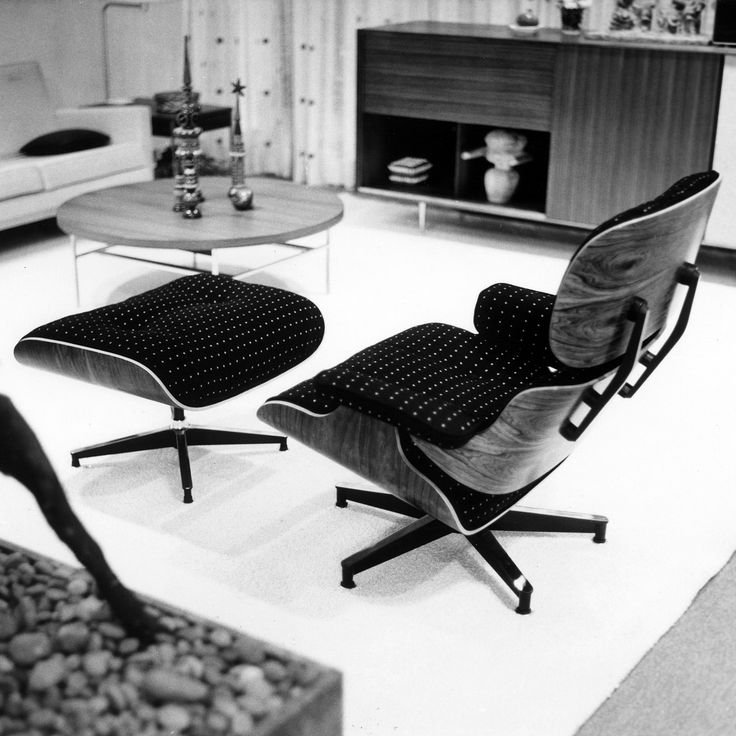 "3,970 Likes, 43 Comments - Herman Miller (@hermanmiller) on Instagram: ""We think this 1959 Eames Lounge is spot on. Upholstered in Alexander Girard's Wooldot textile, this…"""
