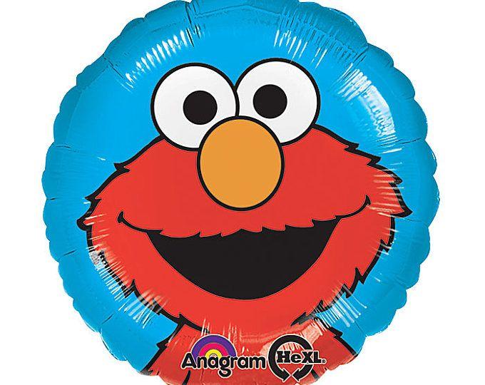 ENVÍA FAST - globo de fiesta de cumpleaños de Elmo, fiesta de cumpleaños de Sesame Street, Elmo fiesta, decoraciones fiesta Plaza Sesamo, decoraciones para fiestas de Elmo