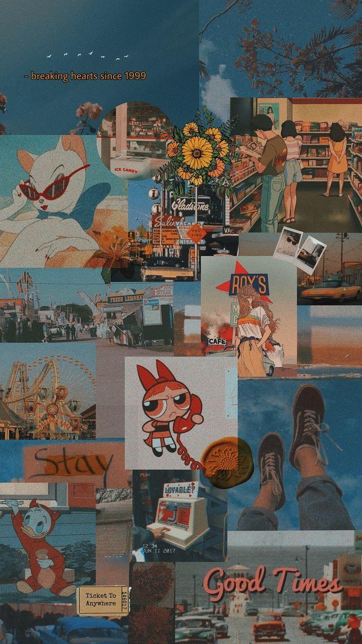 Retro ✨ #aesthetic #moodboard #retro #yellow #wallpaper – – –