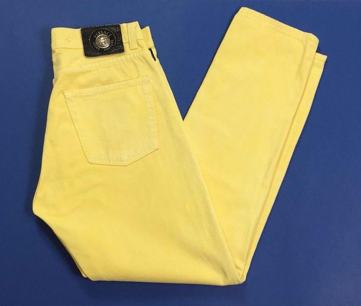 Versace jeans uomo w35 tg 48 boyfriend usati gialli carota affusolati slim T2022