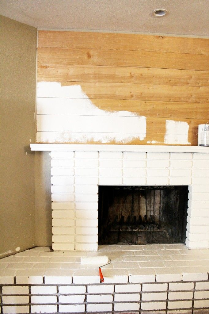 17 best ideas about white brick fireplaces on pinterest for Brick fireplace white mantle