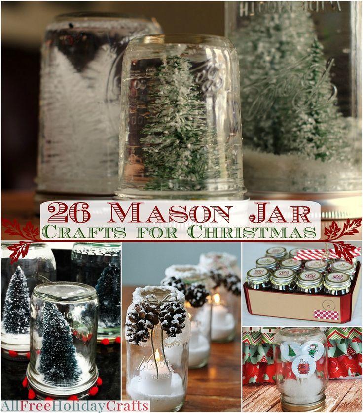 35 mason jar crafts for christmas crafts masons and christmas. Black Bedroom Furniture Sets. Home Design Ideas