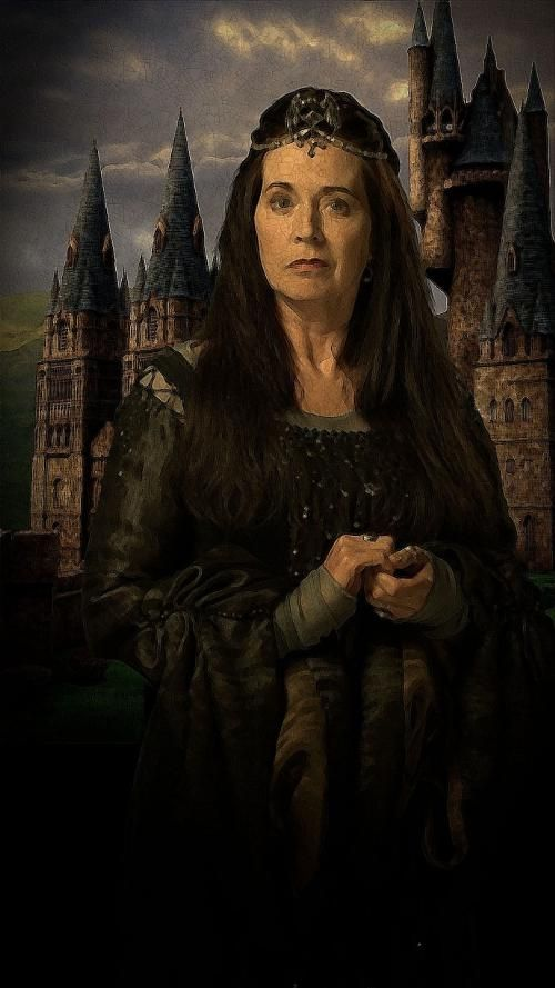 """Professor Rowena Ravenclaw (fl. c. 993 – 1000) was a Scottish witch, who lived in the early Middle Ages. Noted for her intelligence and creativity and regarded as one of the greatest witches of the age, Ravenclaw was one of the four founders of Hogwarts School of Witchcraft and Wizardry along with Godric Gryffindor, Helga Hufflepuff and Salazar Slytherin, as well as the namesake of the Ravenclaw House. Ravenclaw was """"beautiful yet slightly intimidating."""""""