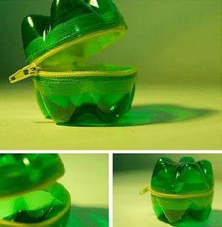 Botella de plástico convertida en monedero #reciclaje #ecologia #ideas