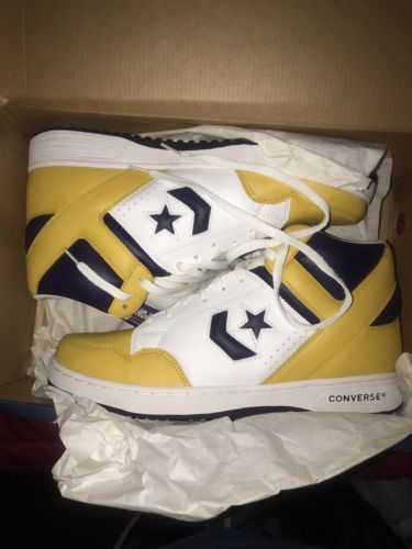"5084535a6b76 Converse Weapon Retro Size 13 Magic Johnson ""SHOWTIME"" Lakers colorway"
